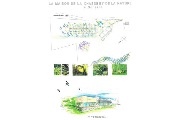 argos architecture, urbanisme, aménagement paysagé de la maison de la chasse à Gonsans